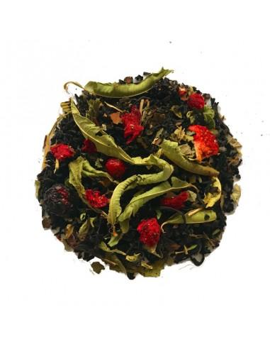Thé noir aux fruits rouges bio