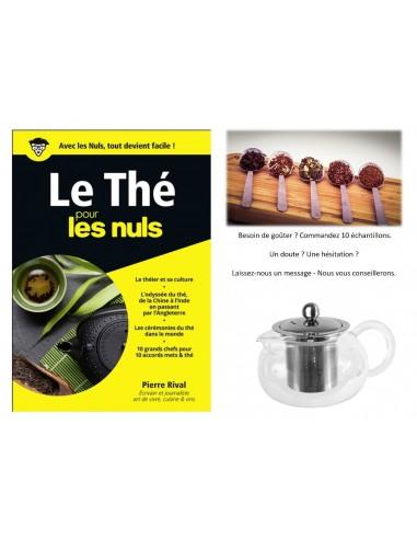 """Formule découverte : livre éle thé pour les nuls"""" + 1 théière dégustation + 10 échantillons"""