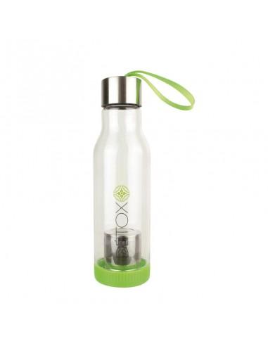 bouteille détox verte avec infuseur