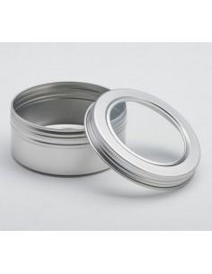 Boite à Thé Vrac - Boite métal thé en vrac - Boite Cylindre avec Fenêtre 50g