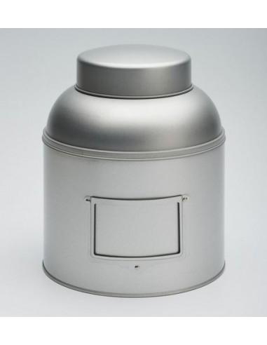 Boite à thé - Boite métal grise - Boite 1,5kg